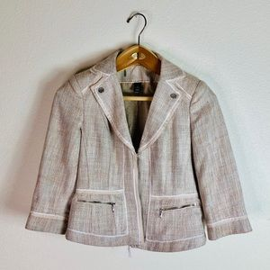 White House Black Market Tweed Blazer Work Jacket